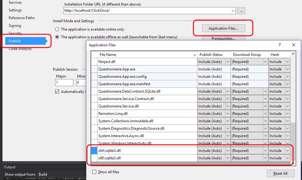 EF7 SQLite Click-Once Deployment Error